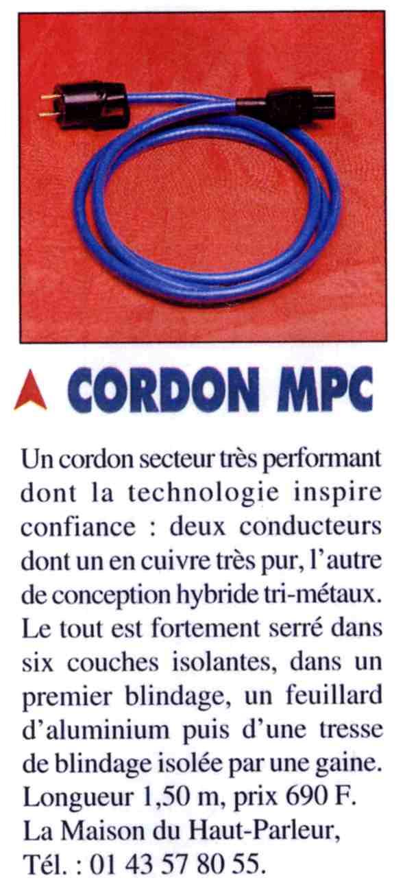 1999 - Test cordon secteur Nouvelle Revue du Son