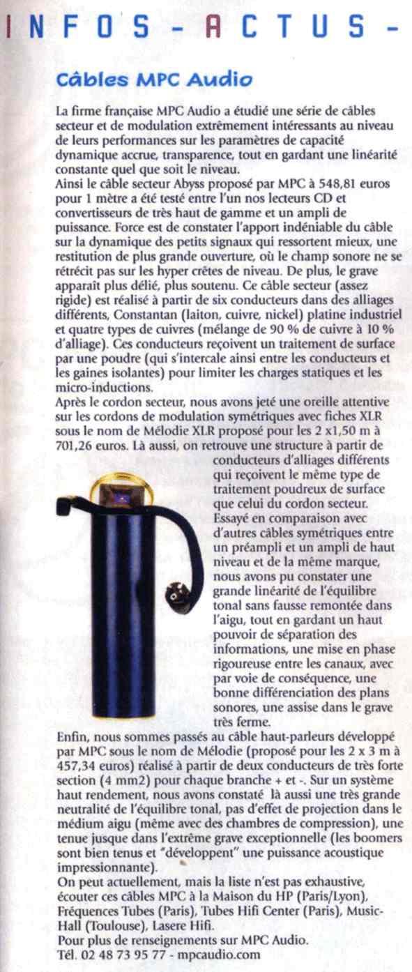 2003 - Test gamme MPC Janvier 2003