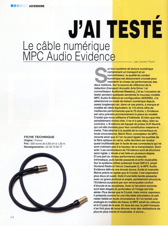 2007 - Test Numerique Evidence Haute Fidelite Janvier 2007
