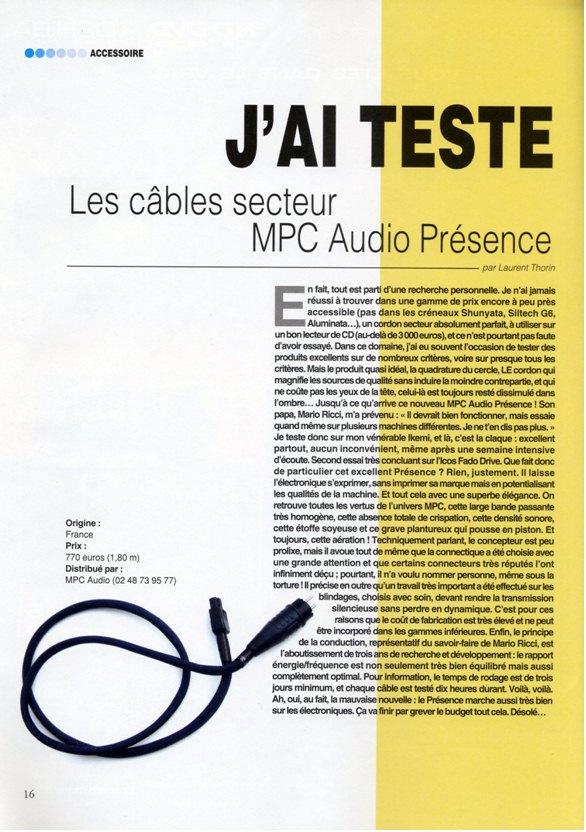 2007 - Test Secteur Presence Haute Fidelite Decembre 2007