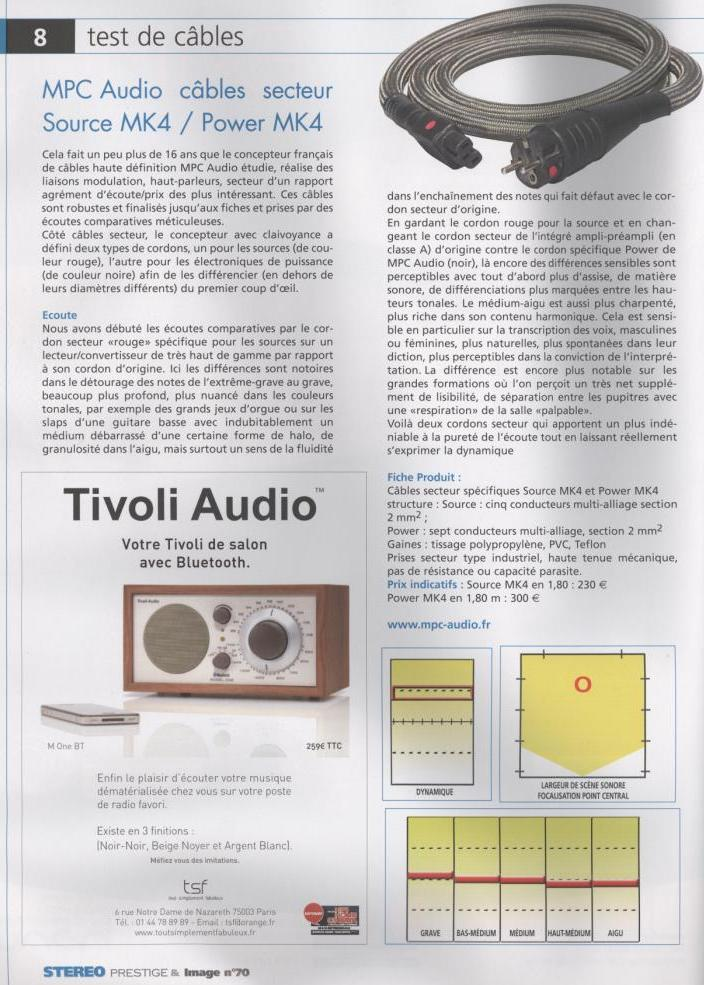 2012 - Test Source MK4 et Power MK4 Stereo Prestige Septembre 2012